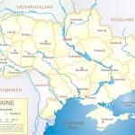 Karte der Ukraine ¹